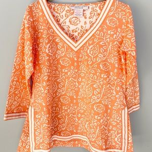 Gretchen Scott coral tunic medium